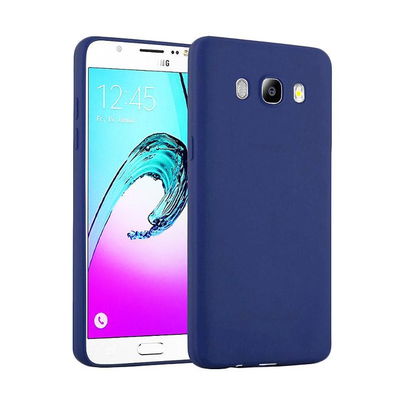 Lize Design Case Slim Anti Glare Silikon Casing for Samsung Galaxy J7 2016 J710 - Biru Tua