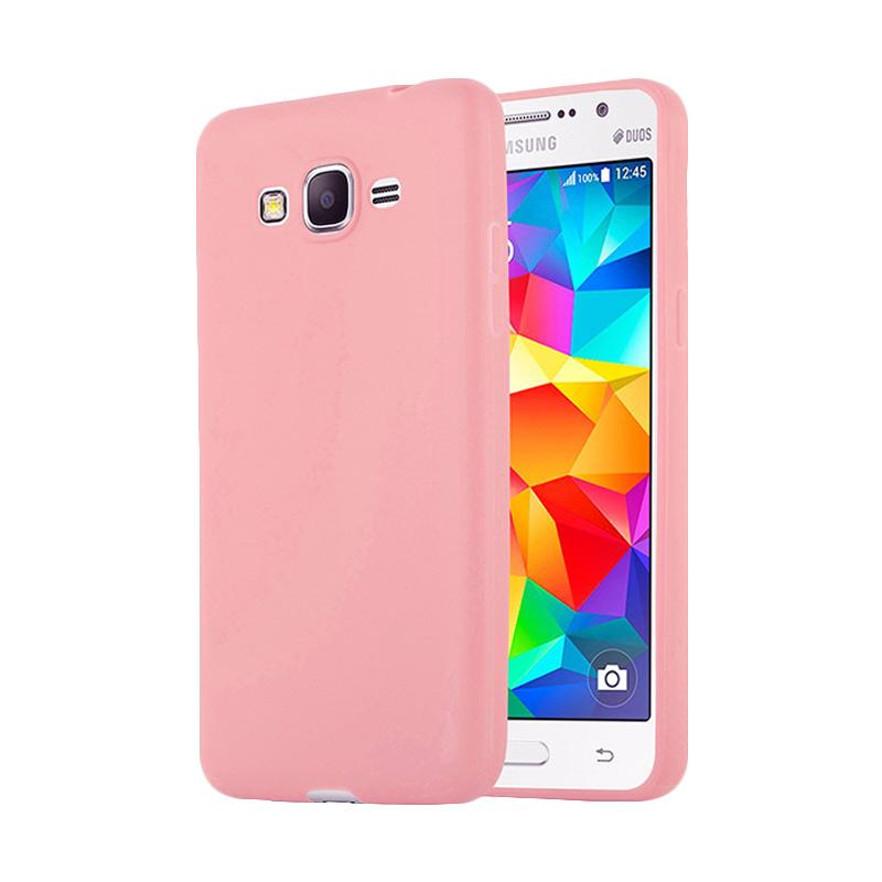 Lize Design Case Slim Anti Glare Silikon Casing for Samsung Galaxy J2 Prime - Pink