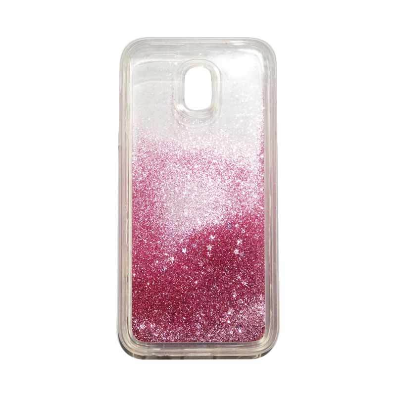 QCF Softcase Water Glitter Aquarium Silicone Casing for Samsung Galaxy J3 Pro 2017 / J330 Case Blink Blink - Pink Muda