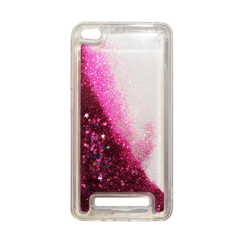 QCF Softcase Water Glitter Aquarium Silicone Casing for Xiaomi Redmi 4A Case Blink Blink - Pink Tua