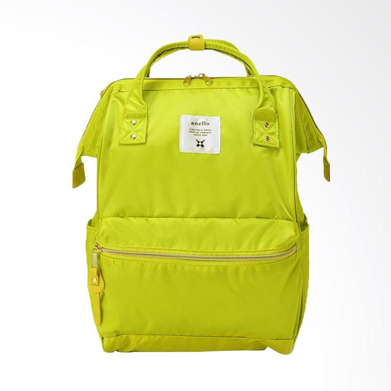 Anello Glossy Poly Twill Backpack Tas Ransel Casual Multifungsi - Yellow