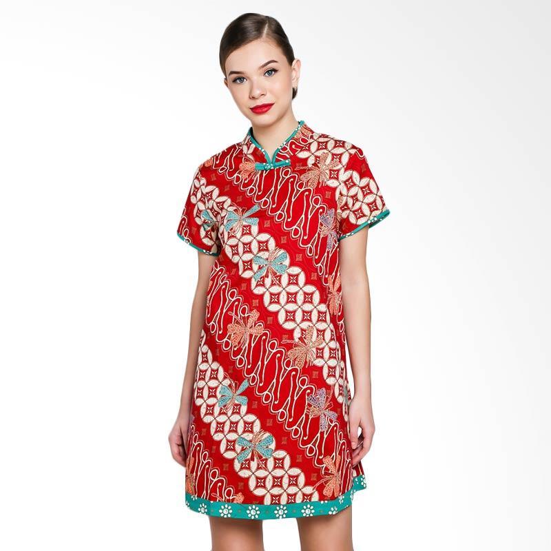 Papercut Ohara Blossom Batik Cheongsam Dress - Red