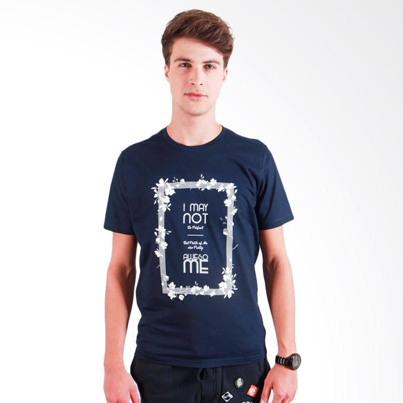 180 Degrees Awesome T-Shirt Pria - Navy