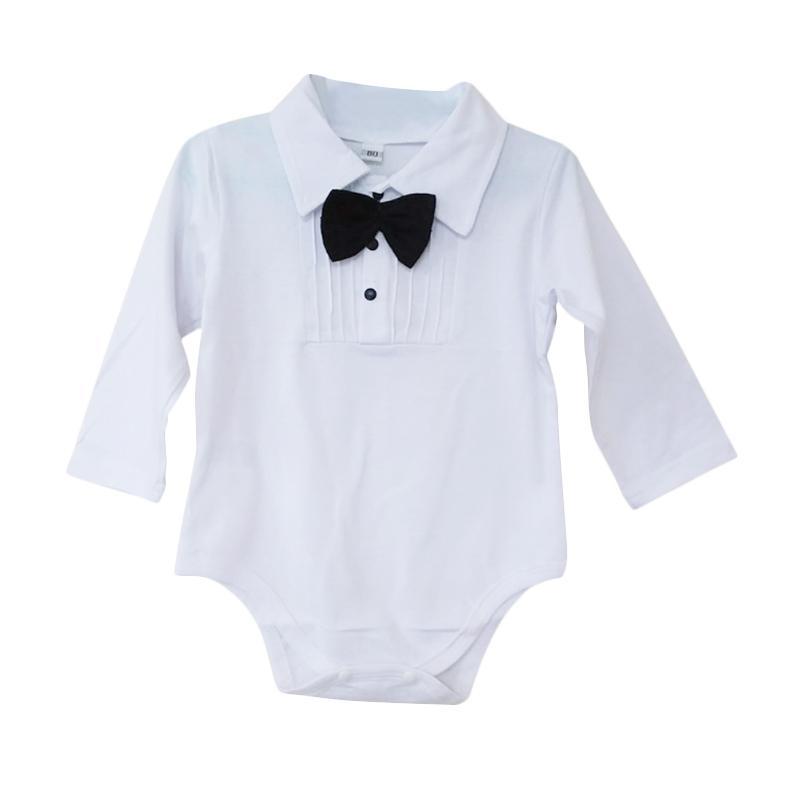 harga Elibella Romper Tuxedo Baju Jumpsuit Bayi - White Blibli.com