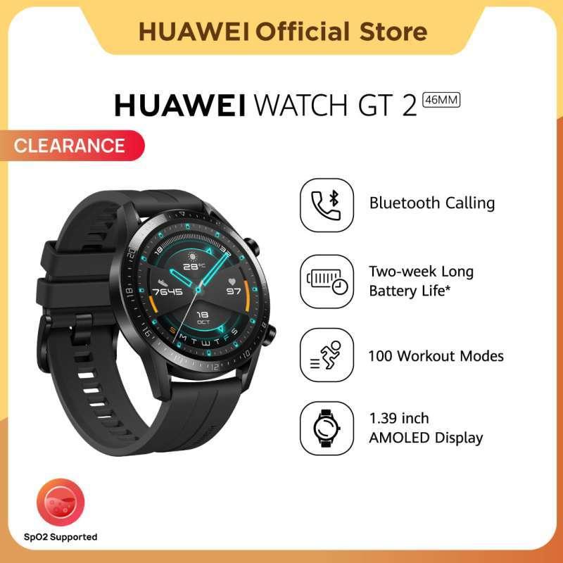 HUAWEI WATCH GT 2 46MM SmartWatch Pria   SpO2 Monitoring   2-week Battery Life   Bluetooth Calling   Professional Workout mode