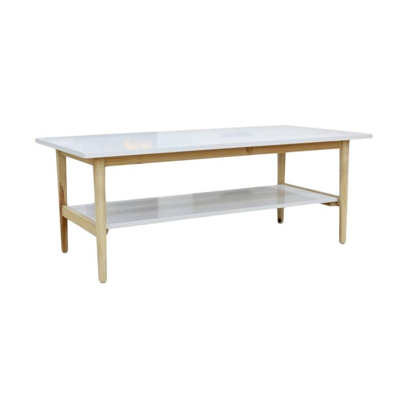 JYSK Coffee Table Risskov Meja - White [120X60X50 cm]