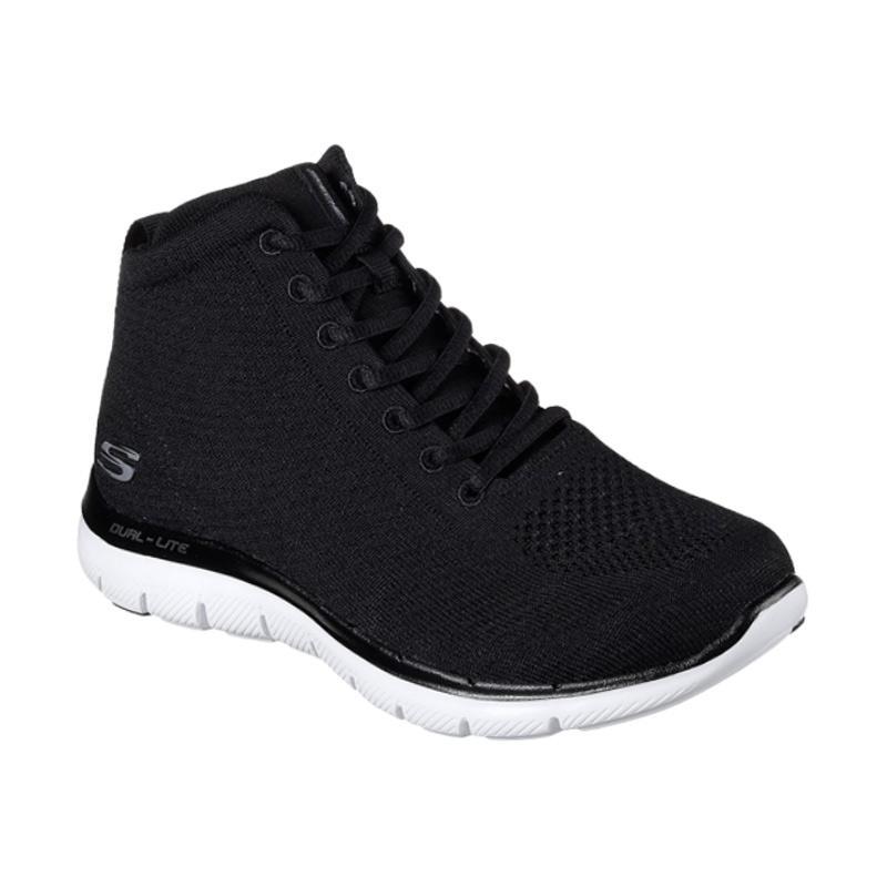 Skechers Flex Appeal Sepatu Olahraga Wanita - Black [12766BLK]