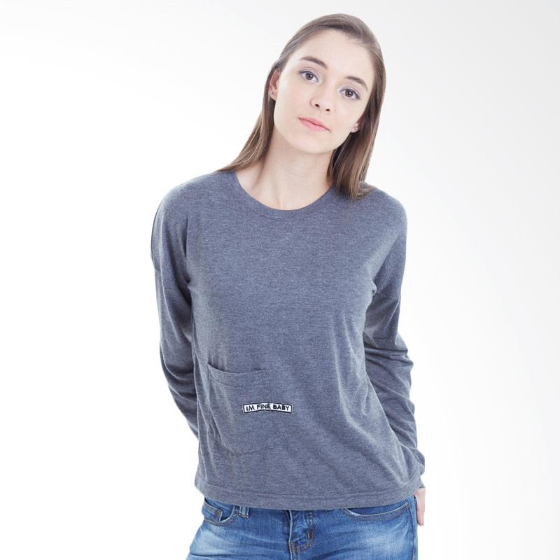 Boontie Mikaila Sweater Wanita - Dark Grey