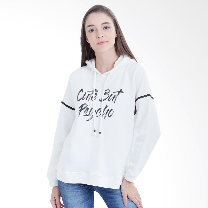 Boontie Cute But Psycho Sweater - White