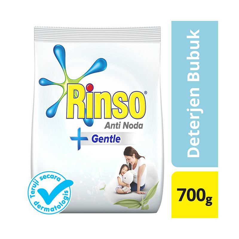 harga Groceries - RINSO 67476227 Anti Noda Gentle Powder Deterjen [700 g] Blibli.com