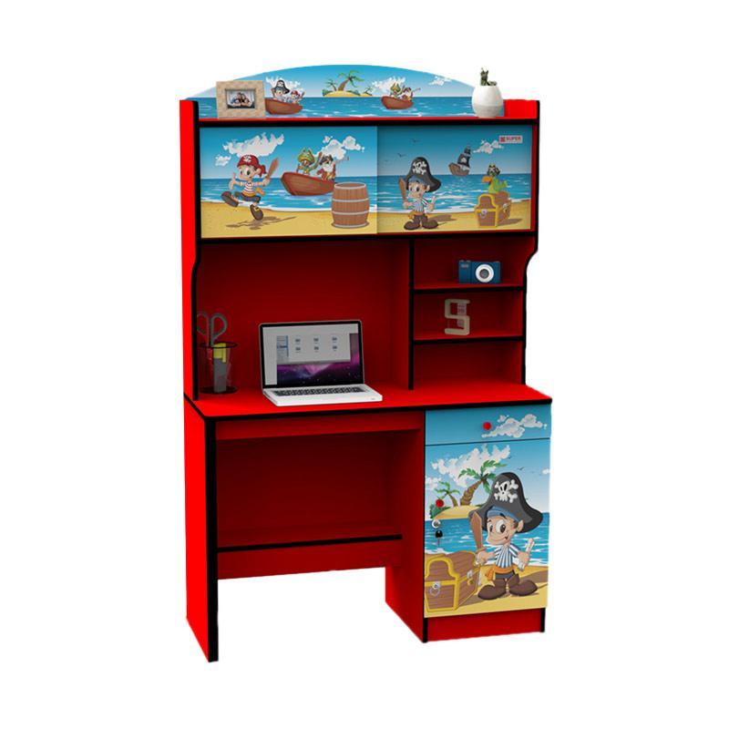 Jual Super Furniture Study Desk Sd 5603 Pirates Meja Belajar Anak Merah Terbaru Harga Promo September 2019 Blibli Com