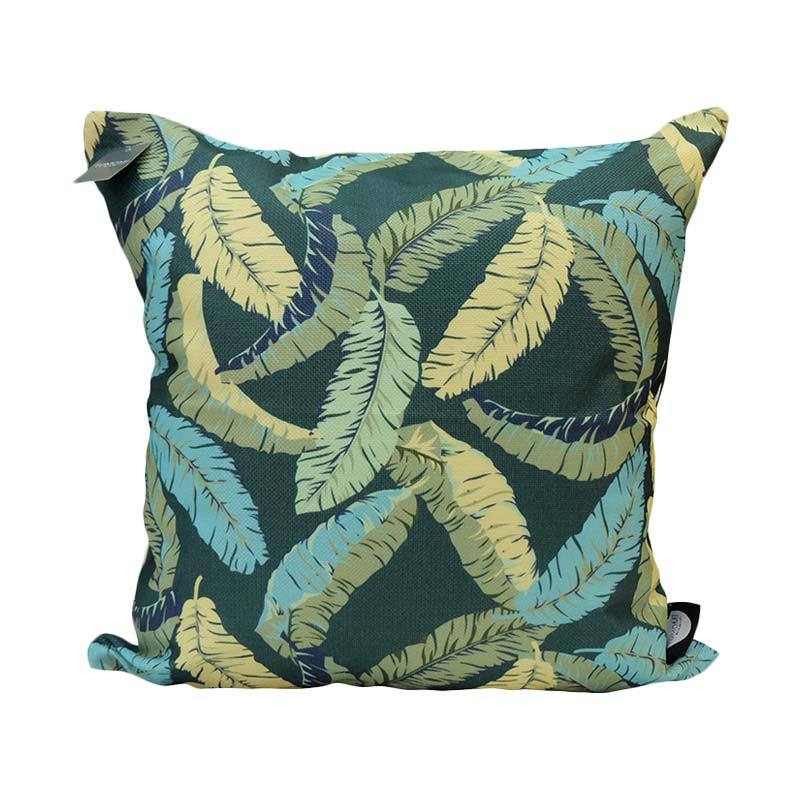 TOMOMI Green Leafs Cushion Cover