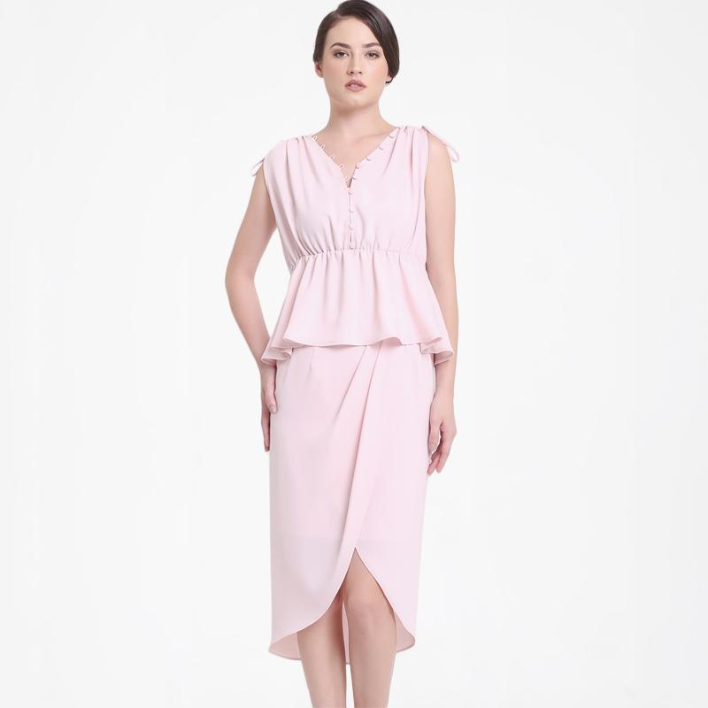 INVIO Leina IB 2761 Blouse Wanita Light Pink