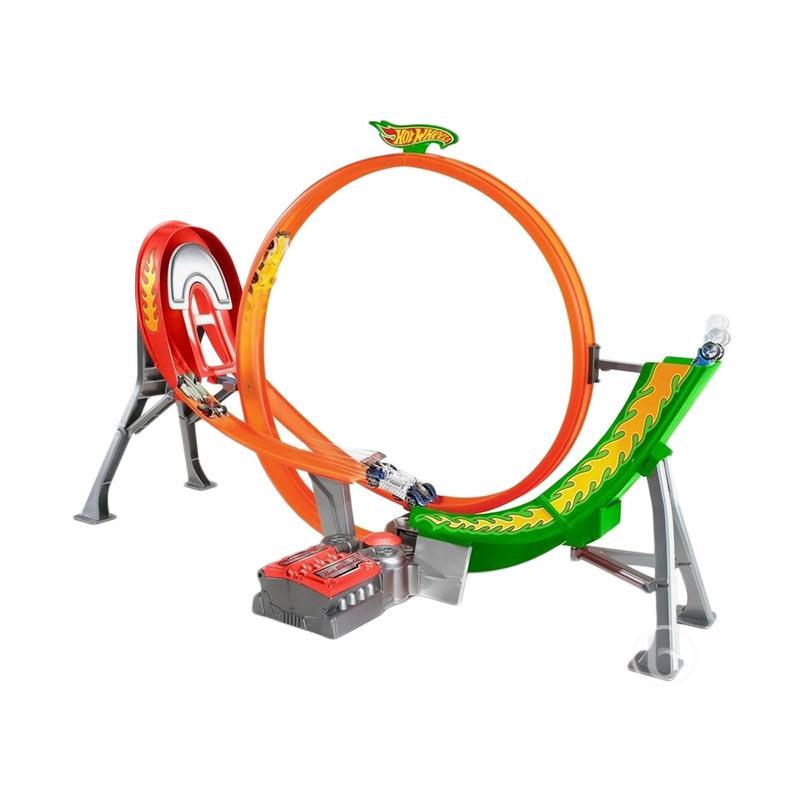 Hot Wheels Power Shift Raceway Track Set FCF18 Diecast