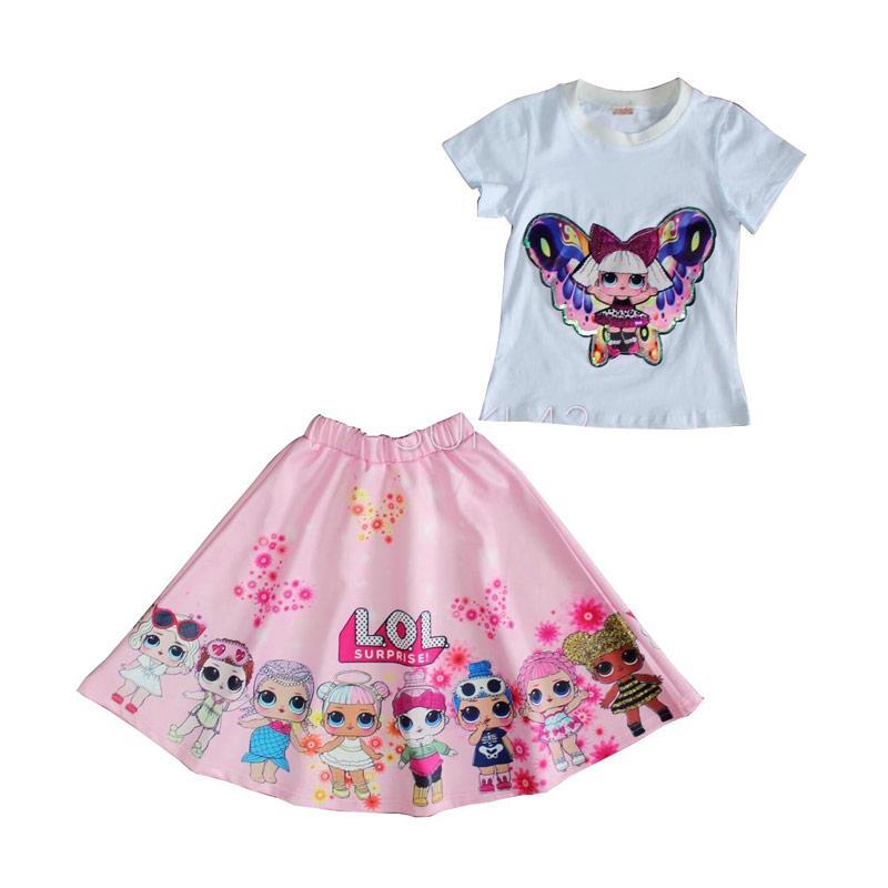 Jual aqeela fashion Motif LOL Setelan Baju Anak Perempuan Online November  2020 | Blibli