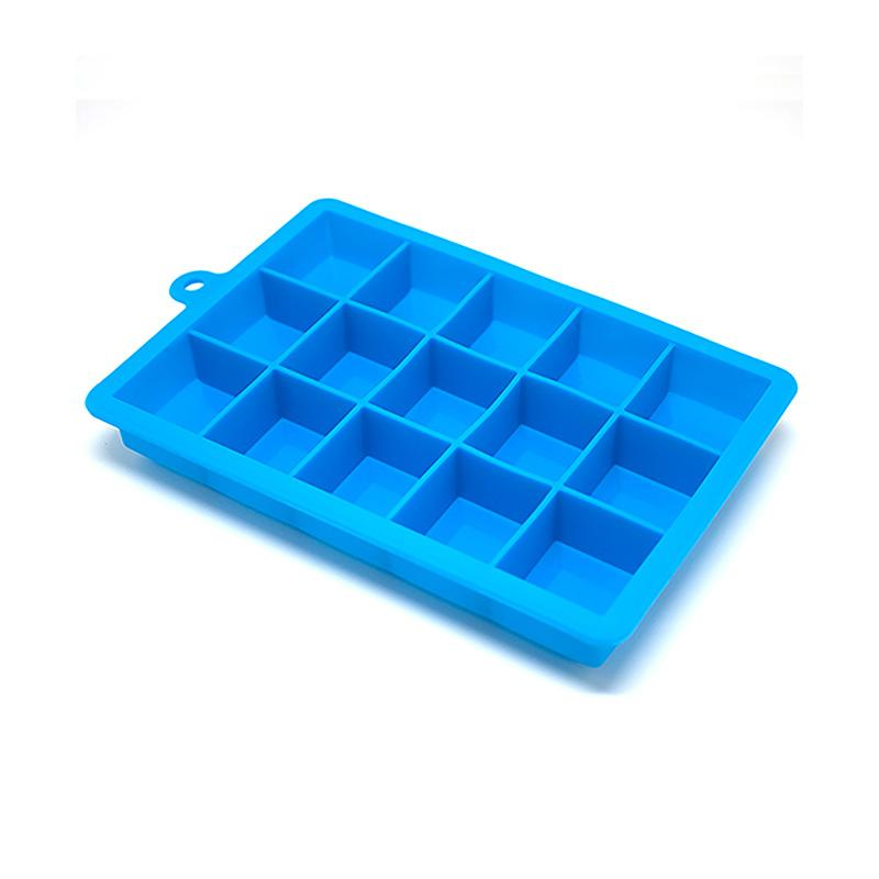 Ice Cube Trays Non Stick Easy Soft Silicone Plastic Fruit Freezer Drinks DS
