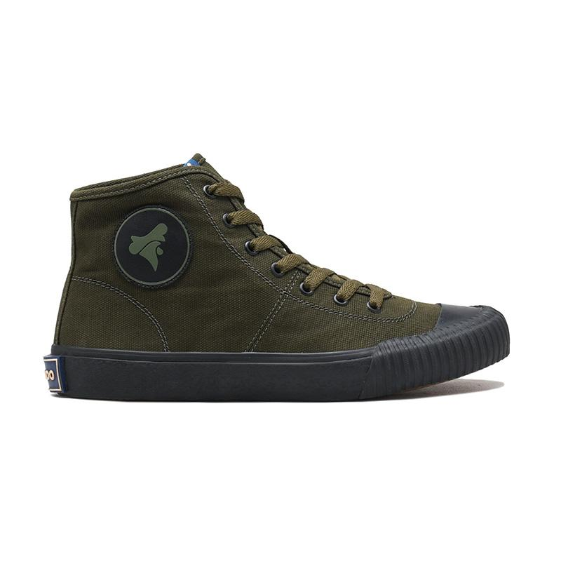 Brodo Vulcan Hi Sepatu Sneakers Pria Olive Black
