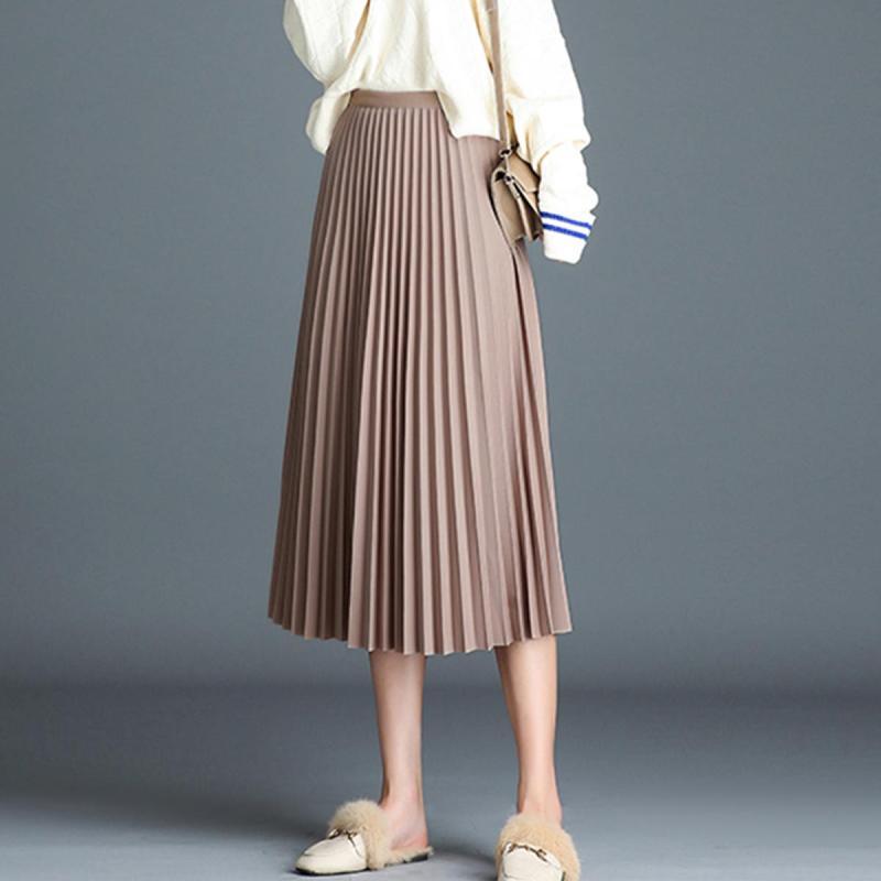 Soigni Rok midi beludru rok panjang midi skirt elastis terbaru