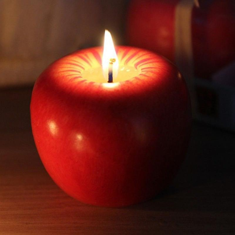 Translucent Red 2 Tiny Table Top Faux Candles For Your Display or Barbie