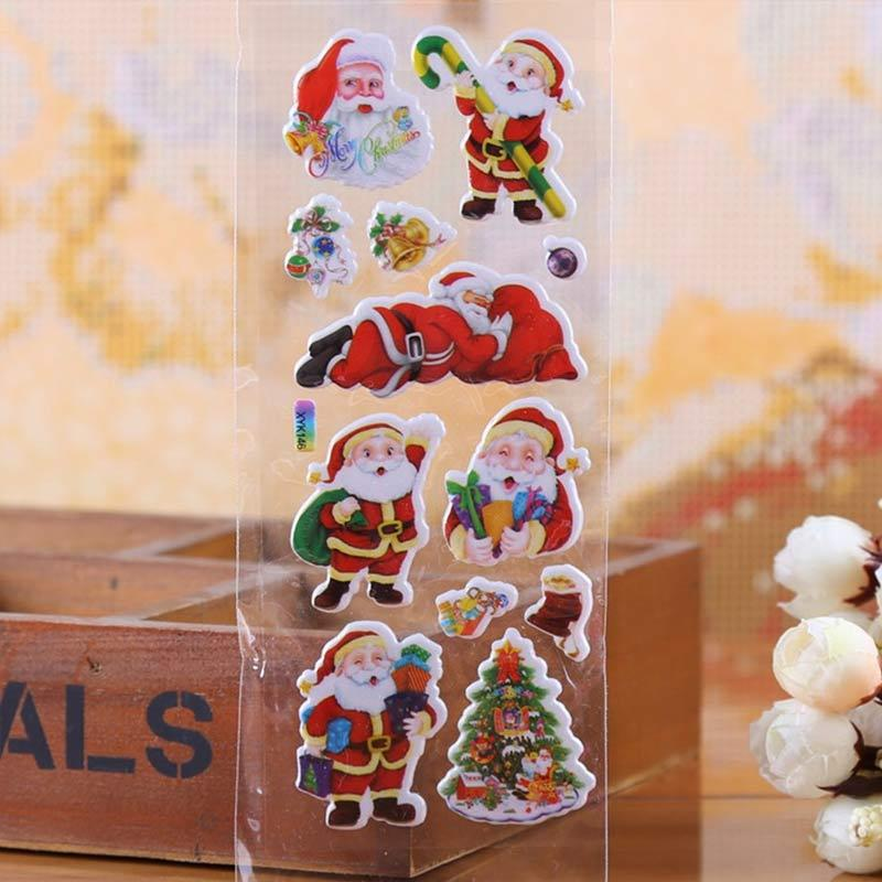 100 Holiday Gift Tag Stickers in Dispensing Box Christmas Theme #2
