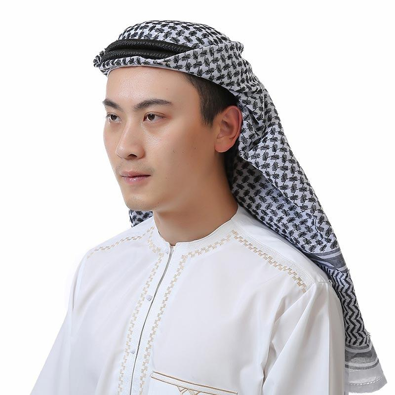 Jual Plaid Stripe Muslim Men Hijab Scarf Islamic Shawl Arab Long Headscarf Underscarf Online Oktober 2020 Blibli Com