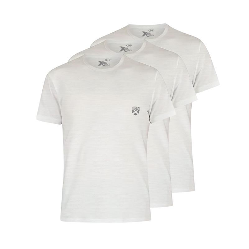 Rider R885BP Xtracool Round Neck T Shirt Putih 3 Pcs