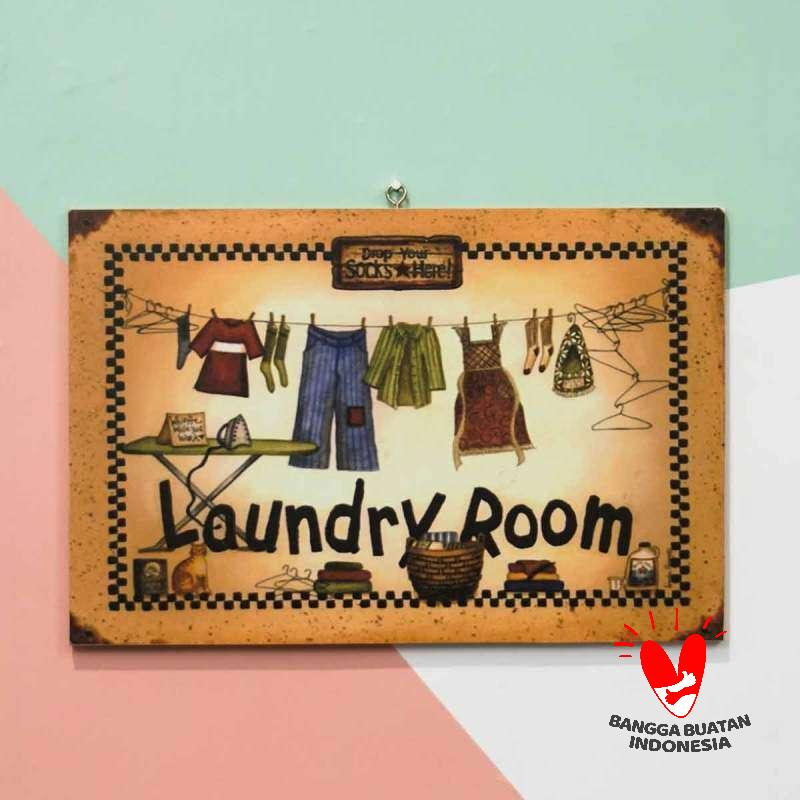 Jual Wooden Projects Laundry Room Pajangan Hiasan Wall Decor Online November 2020 Blibli Com