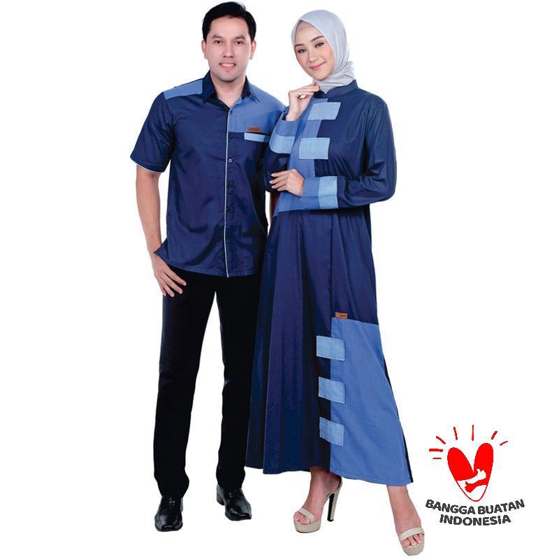 Jual Azzurra Busana Muslim Couple 645 11 Pria 645 12 Wanita Online Januari 2021 Blibli