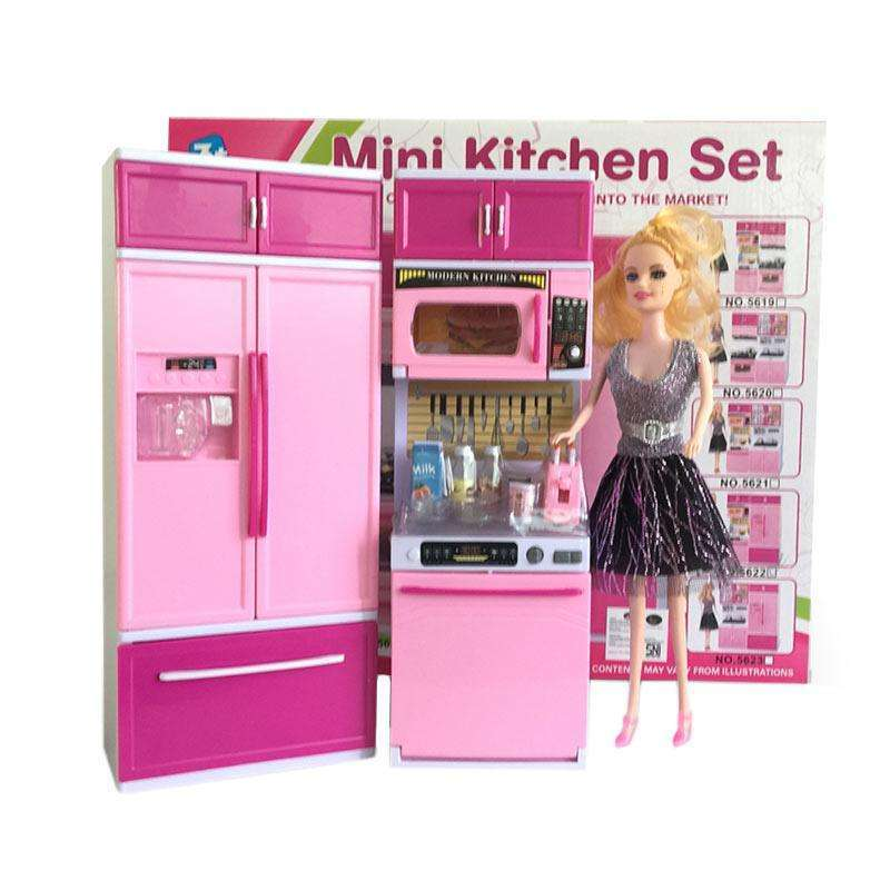 Jual Mini Kitchen Set Barbie Mainan Anak Perempuan Kado Ultah Online Oktober 2020 Blibli Com