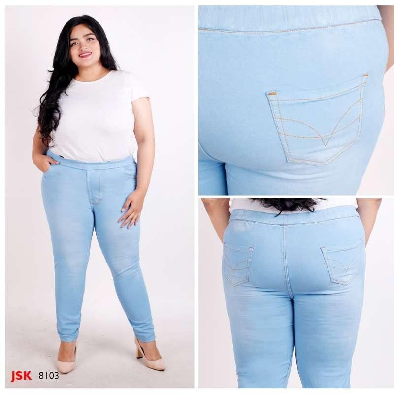 Jual Size 28 42 4 Warna Celana Panjang Legging Jeans Wanita Pinggang Karet Jegging Jumbo Big Size Jsk Online Oktober 2020 Blibli Com