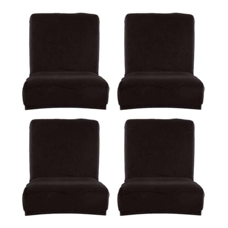 Jual 4x Spandex Velvet Elastic Dining Room Chair Covers Bar Counter Stool Slipcover Online November 2020 Blibli Com