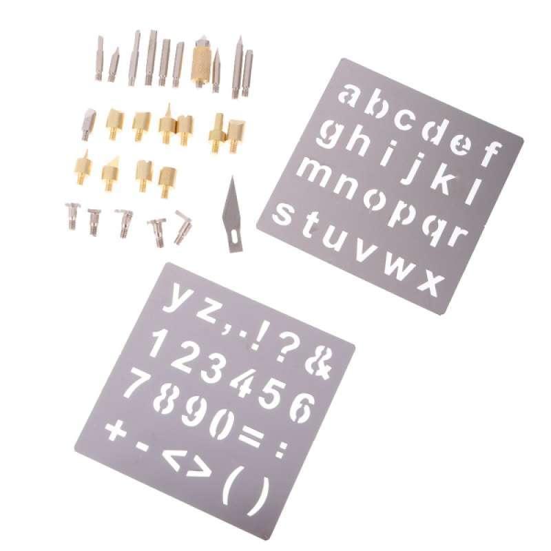 Jual 28pcs Wood Burning Tips Stencils Pyrography Tool Tips Soldering Tips Stencil Online November 2020 Blibli Com