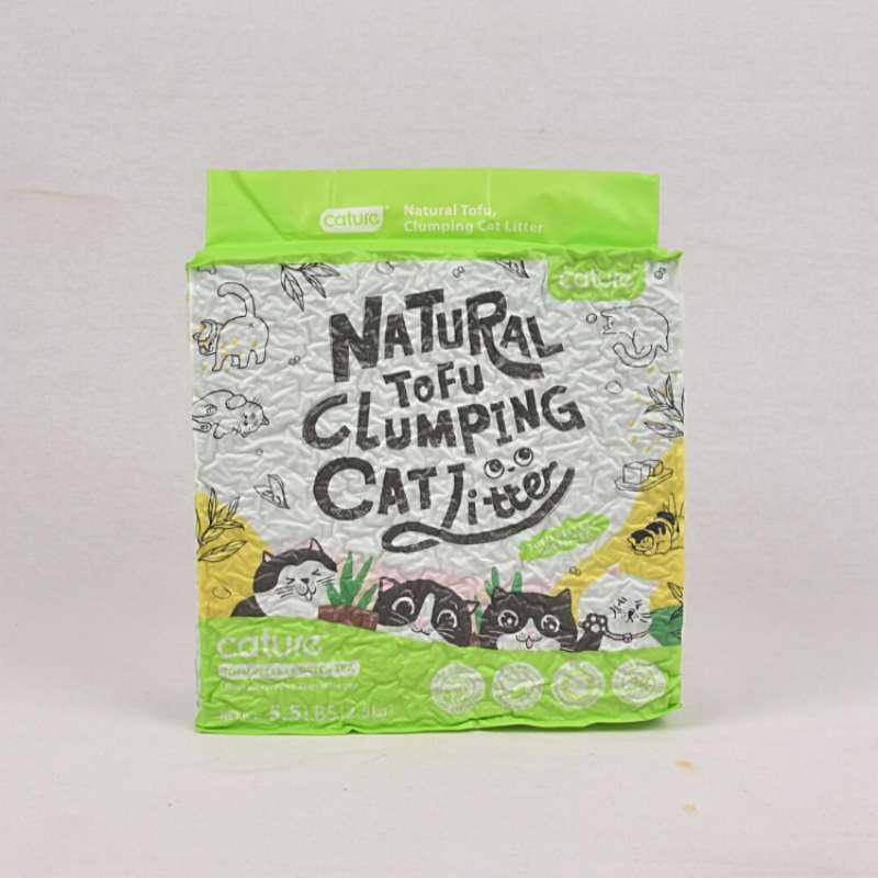 CATURE Pasir Kucing Natural TOFU Clumping Litter GREENTEA 2 5kg