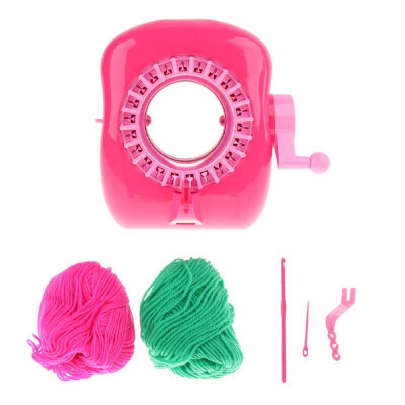 oem fun knitting machine weaving loom diy knit scarf hat kids pretend play toy full01
