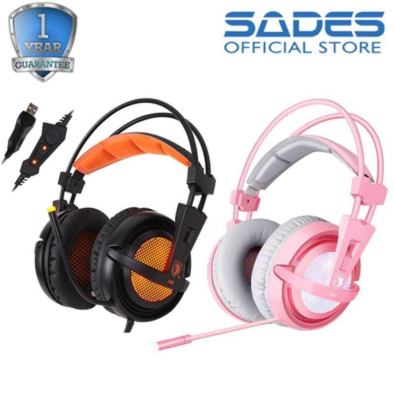 Headset Gaming Sades A6 7 1 Surround Sound