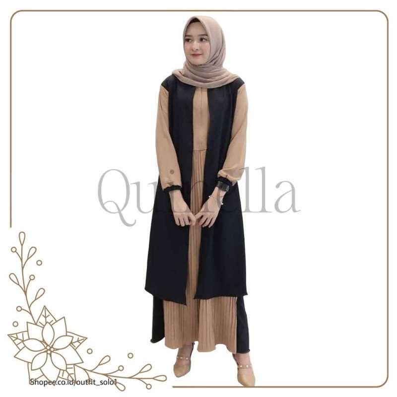 Jual Levindah Dress Casual Pakaian Atasan Wanita Fashion Gamis Syar I Quinella Online Maret 2021 Blibli