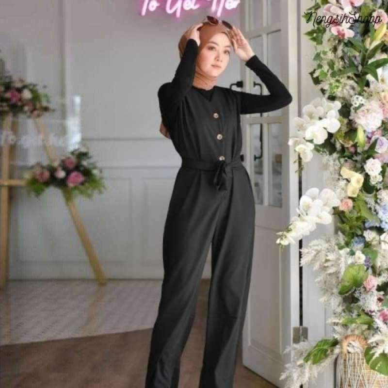 Jual Baju Gamis Wanita Muslim Terbaru Raquel Jp Jumpsuit Online Januari 2021 Blibli