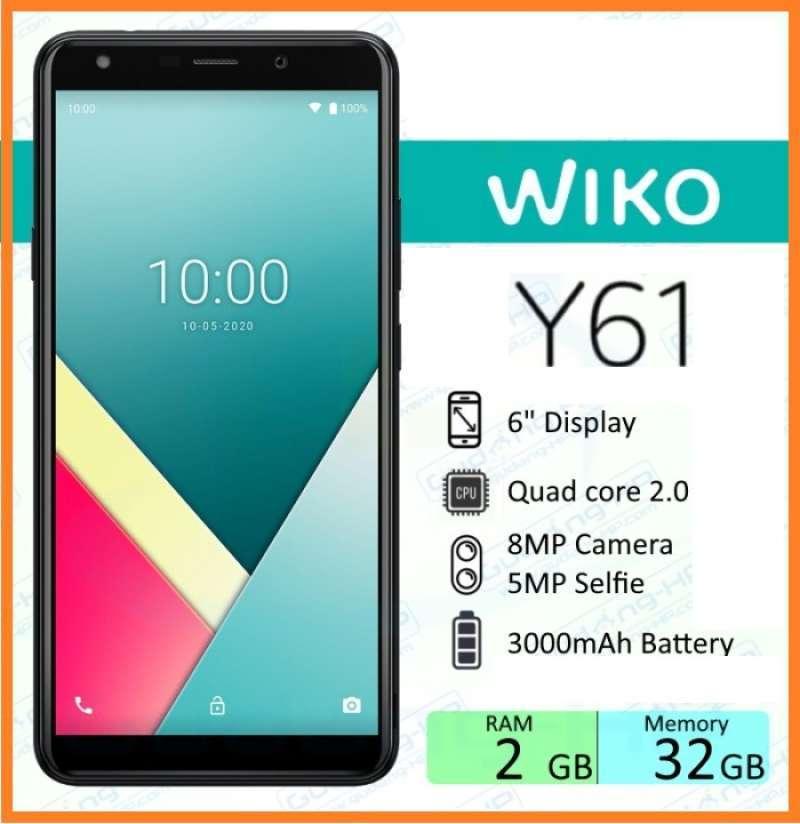 Jual Best Deal..!! Wiko Y61 2/32 Gb Garansi Resmi / Hp Wiko Murah Original  Murah Mei 2021 | 9 HP Android Murah Harga Dibawah 1 Juta