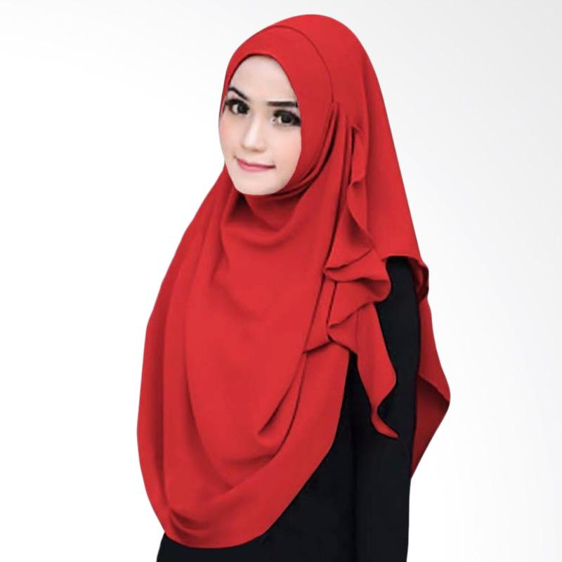 Kus_group Flowing Hijab Instant - Red