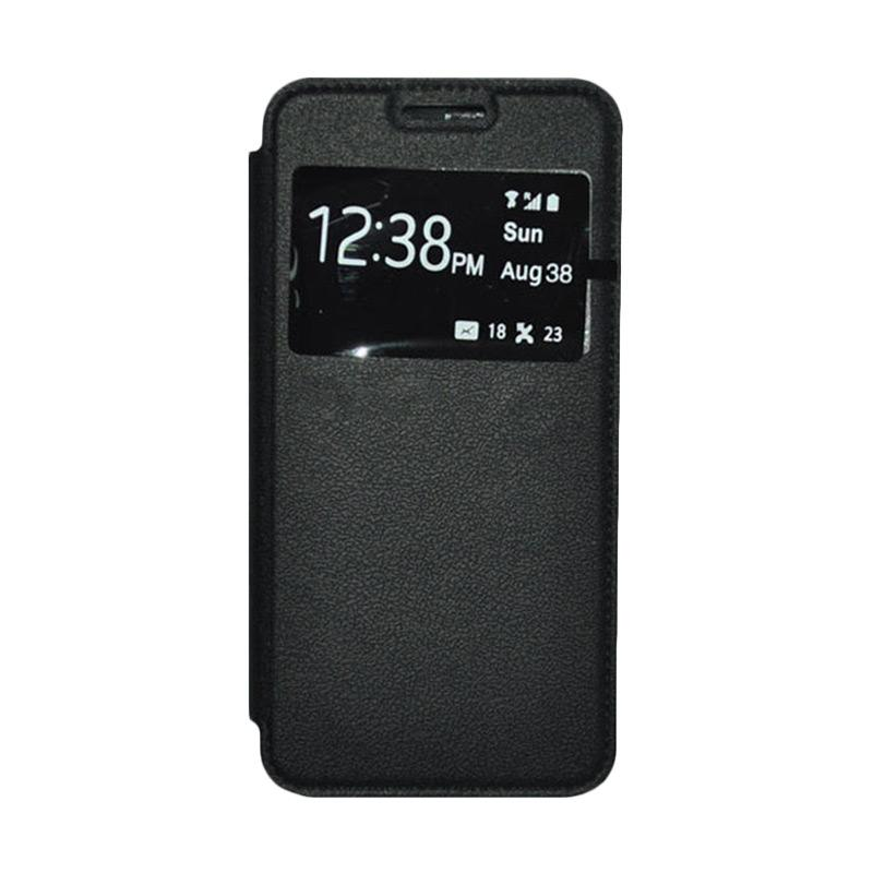 OEM Leather Book Cover Casing for Xiaomi M3 - Black