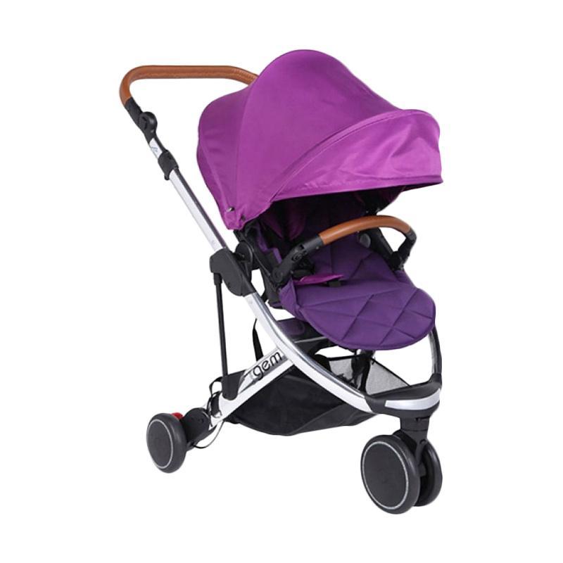 OYSTER Gem Stroller Mirror Purple [FREE Oyster Infant Carrier & Adaptor]