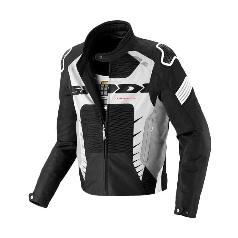 Spidi Warrior Net Jaket Motor - Black White