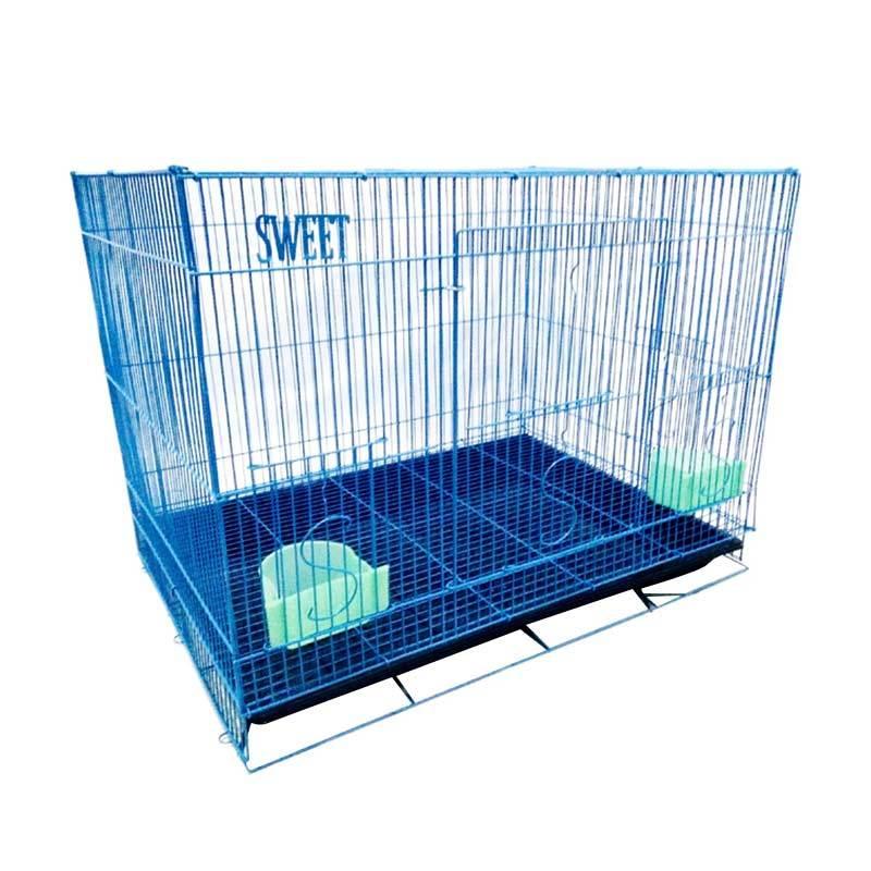harga Kandang Sweet K33 Kucing Besi Lipat Besar 60p - Biru Blibli.com