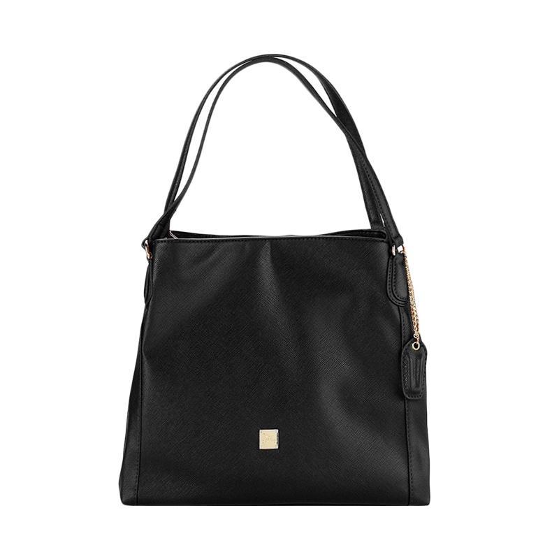Les Catino Cobela Hobo Shoulder Bags - Black