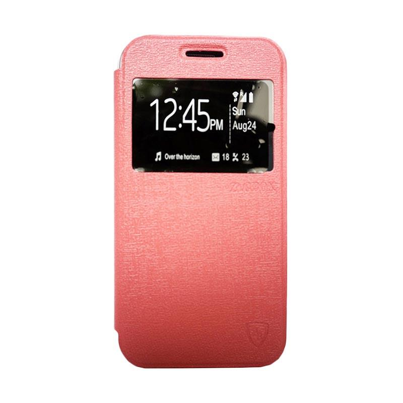 Zagbox Flip Cover Casing for Infinix Hot Note - Pink
