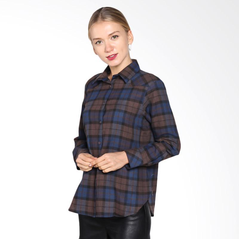 A&D Fashion Ms 21016- 618 Long Sleeve Shirt - Brown