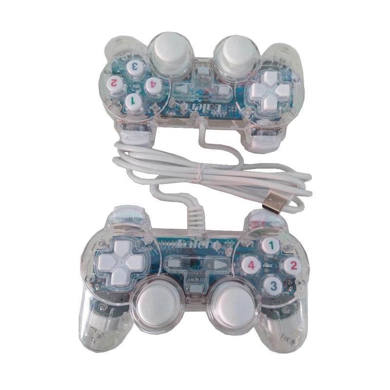 harga Baleno Dual Shock USB Gamepad for PC - Transparant Blibli.com