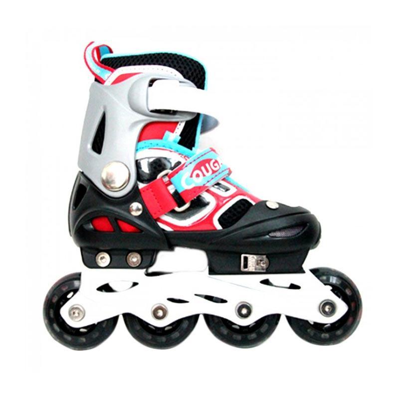 harga Cougar ADJ.Inline Skate W-ABEC7 MZS835LSG Sepatu Roda - Black Red [38-41] Blibli.com
