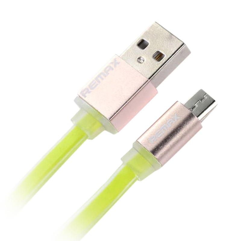 Remax Puding Micro USB Quick Data Cable - Green