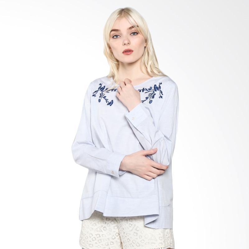Rodeo Blouse Shirt Polos 817.0228.LTB Atasan Wanita - Light Blue